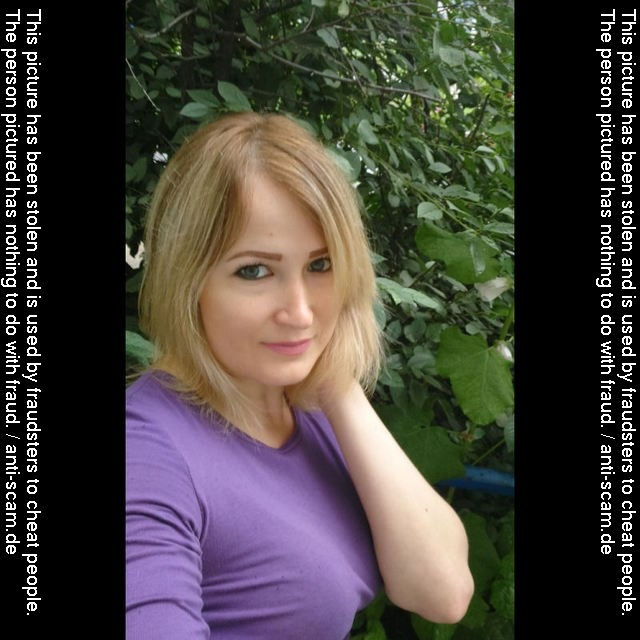 Love scamming bilder weiblich